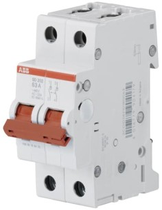Ραγοδιακόπτης πίνακος διπλός 2X40A SD202-40 ABB  RGA0001
