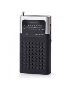 Μini φορητό ραδιόφωνο FM, σε μαύρο/γκρι χρώμα NEDIS  233-0019