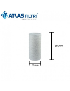 """Ανταλλακτικό φίλτρο νήματος FA 4 SX 4"""" 25 microns Atlas Filtri ATLAS FILTRI 12105"""