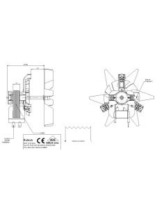 Ανεμιστήρας αερόθερμου φούρνου κουζίνας ARCELIK/BEKO/MIELE/KORTING replica KÖRTING  MF0013