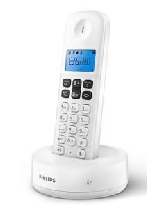 Ασύρματη τηλεφωνική συσκευή άσπρη D1611W/34 PHILIPS με λειτουργία ανοιχτής ακρόασης PHILIPS D1611W