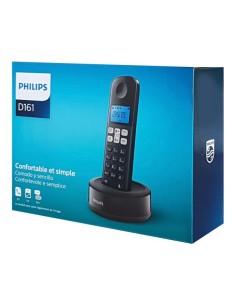 Ασύρματη τηλεφωνική συσκευή μαύρο D1611B/34 PHILIPS με λειτουργία ανοιχτής ακρόασης PHILIPS D1611B