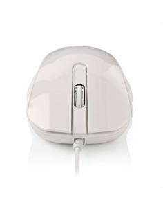 Ενσύρματο οπτικό ποντίκι, 1000 dpi σε άσπρο χρώμα NEDIS  233-0365