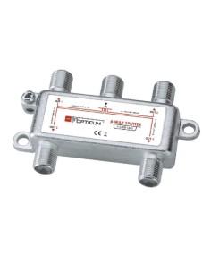 Διακλαδωτής μεταλλικός τύπου F 1 πρός 4 OPTICUM OPTICUM TAFF0003