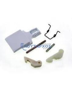 Κλείστρο πόρτας set (λευκό χρώμα) πλυντηρίου ρούχων ARISTON (AF553T-554T)/INDESIT ARISTON KLI0035
