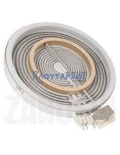 Εστία κεραμικού πλατώ (23cm διάμετρο) διπλής ζώνης, 700+1400watt, 220volt (με 5 άκρα)ΓΕΝΙΚΗΣ ΧΡΗΣΗΣ Εστίες Κουζίνας