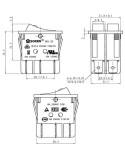 ΓΕΝΙΚΗΣ ΧΡΗΣΗΣ Διακόπτης διπλός ON-OFF με ενδεικτικά λαμπάκια για συσκεύες ΓΕΝΙΚΗΣ ΧΡΗΣΗΣ Καφετιέρα - Espresso