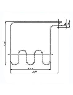 Αντίσταση (1200watt, 220volt) κάτω φούρνου κουζίνας AEG/ZANUSSI AEG AKM0016