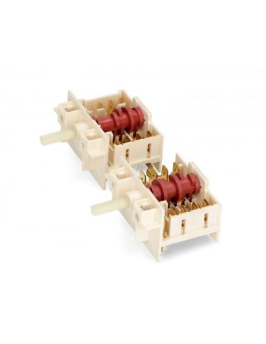 Διακόπτες Κουζίνας - Διακόπτης διπλός εστιών κουζίνας ZANUSSI/KORTING/FOURLIS/ESKIMO