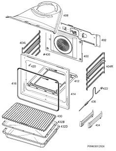 ZANUSSI  Κάλυμμα πλάτης αερόθερμου φούρνου AEG/ELECTROLUX/ZANUSSI Καλύμματα-Μοτέρ Κουζίνας