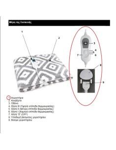 Χειριστήριο μαζί με καλωδίωση ηλεκτρικής κουβέρτας IZZY original IZZY HKXIR0002