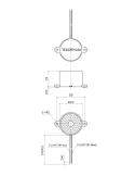 Buzzer με καλώδιο 9VDC 80dB ΓΕΝΙΚΗΣ ΧΡΗΣΗΣ